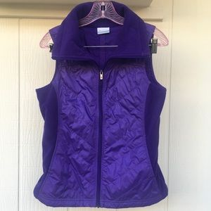 S COLUMBIA Outdoor Purple Quilted *Like New Cond!*